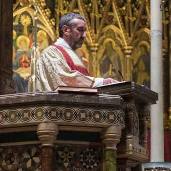 preacher in pulpit